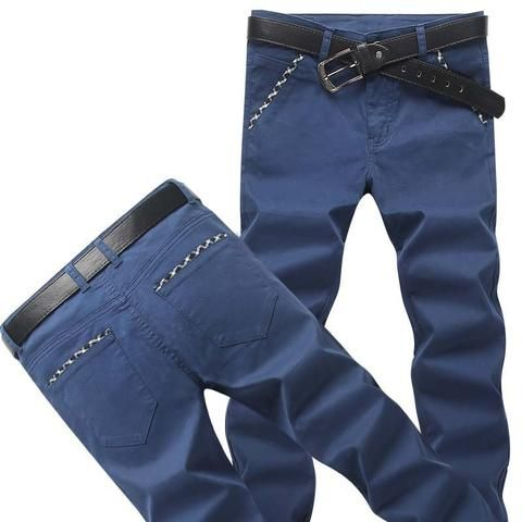 2018 new men pants casual straight pants men slim fit cotton long pants trousers high quality big size 6 colors pants for man is part of Clothes Casual Colored Pants - Gender MenItem Type Full LengthLength Full LengthWaist Type MidModel Number JG985Waist Size(in inches) 2 13 5Fabric Type BroadclothFront Style FlatPant Style Pencil PantsThickness MidweightFit Type RegularMaterial CottonStyle CasualDecoration ButtonClosure Type Zipper FlyPlace of Origin China (Mainland