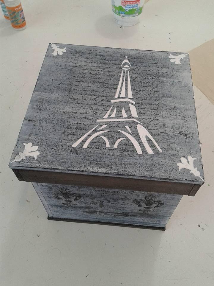 tecnica de decapado con aplicaciones con stencil