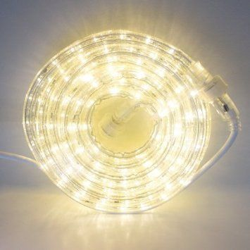24 Ft Heavy Duty Warm White 287 Led Rope Lights Expandable To 216 Ft Led Rope Lights Rope Lights Christmas Lights Indoor Decor