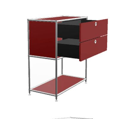 System4 Credenza Color: Wine Red