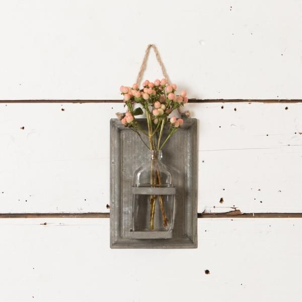 This Galvanized Sheet Metal Vase Is Cute For Bringing Dimension And A Subtle Touch Of Industrial Farmhouse S Galvanized Sheet Metal Metal Vase Galvanized Sheet
