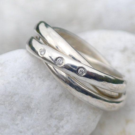 Size J Us 4 1 2 Silver Russian Wedding Ring Por Lilianashweddings