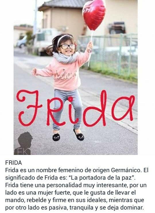nombre anime mujer significado: Nombres De Niñas, Significado De Frida