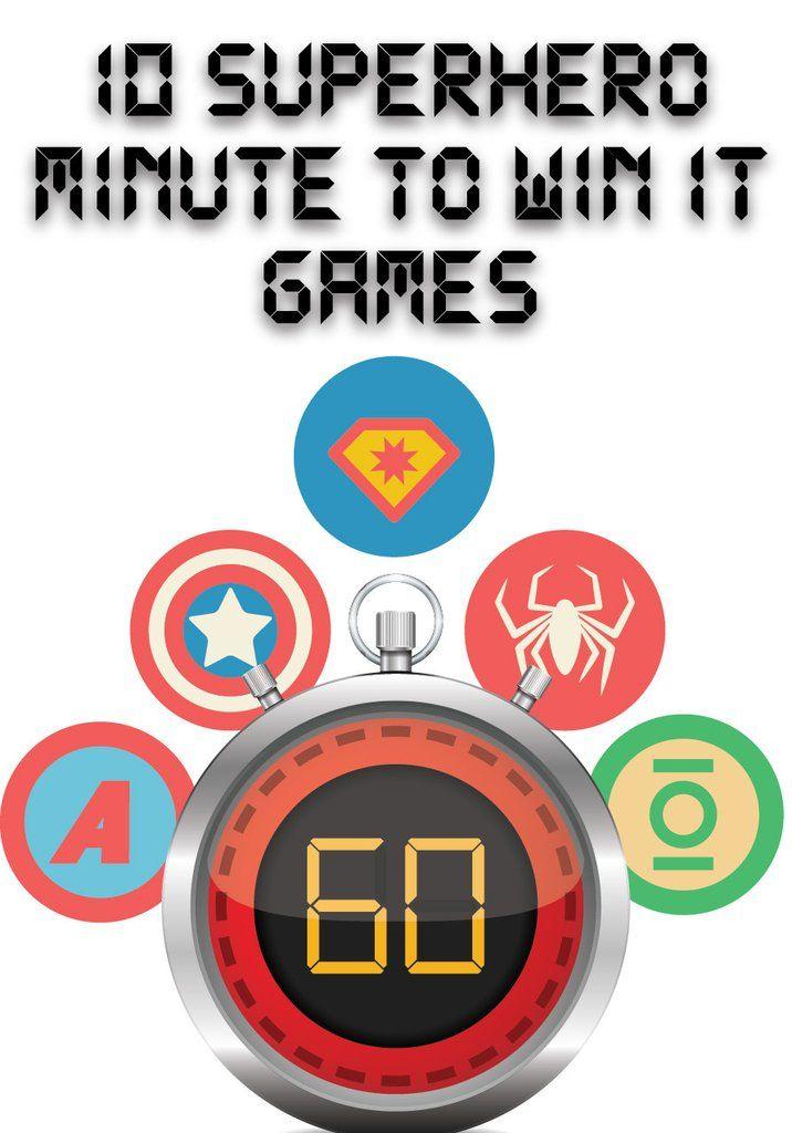 Superhero Minute To Win It Games