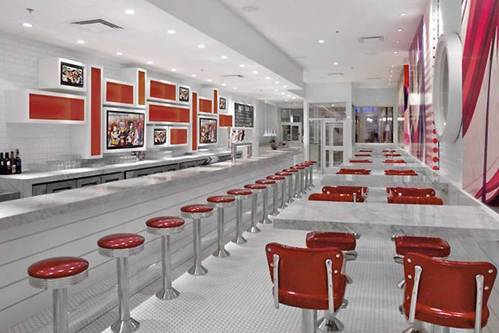 Futuristic Diner Interiors Octagon house, Diners and Commercial - innovatives decken design restaurant