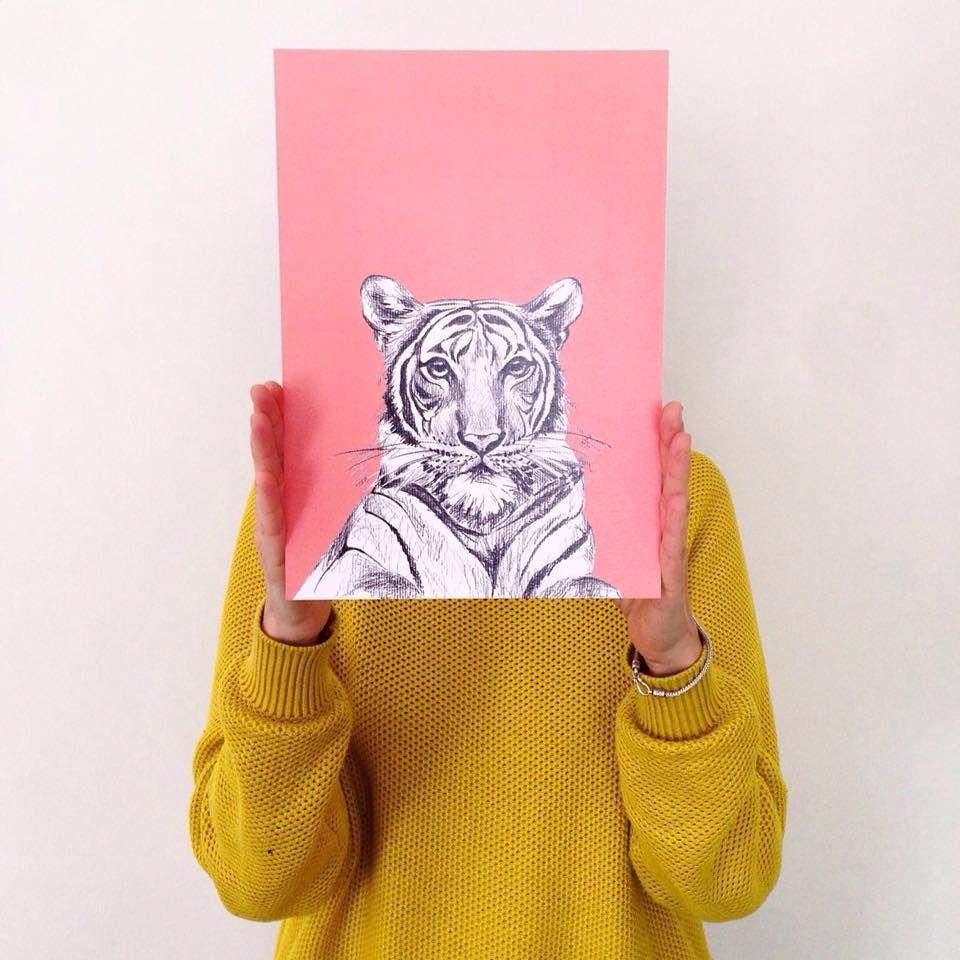 Macaroom Ilustracion Tigre Ilustraci N Pinterest Habitaci N  # Muebles Tigre Infantiles
