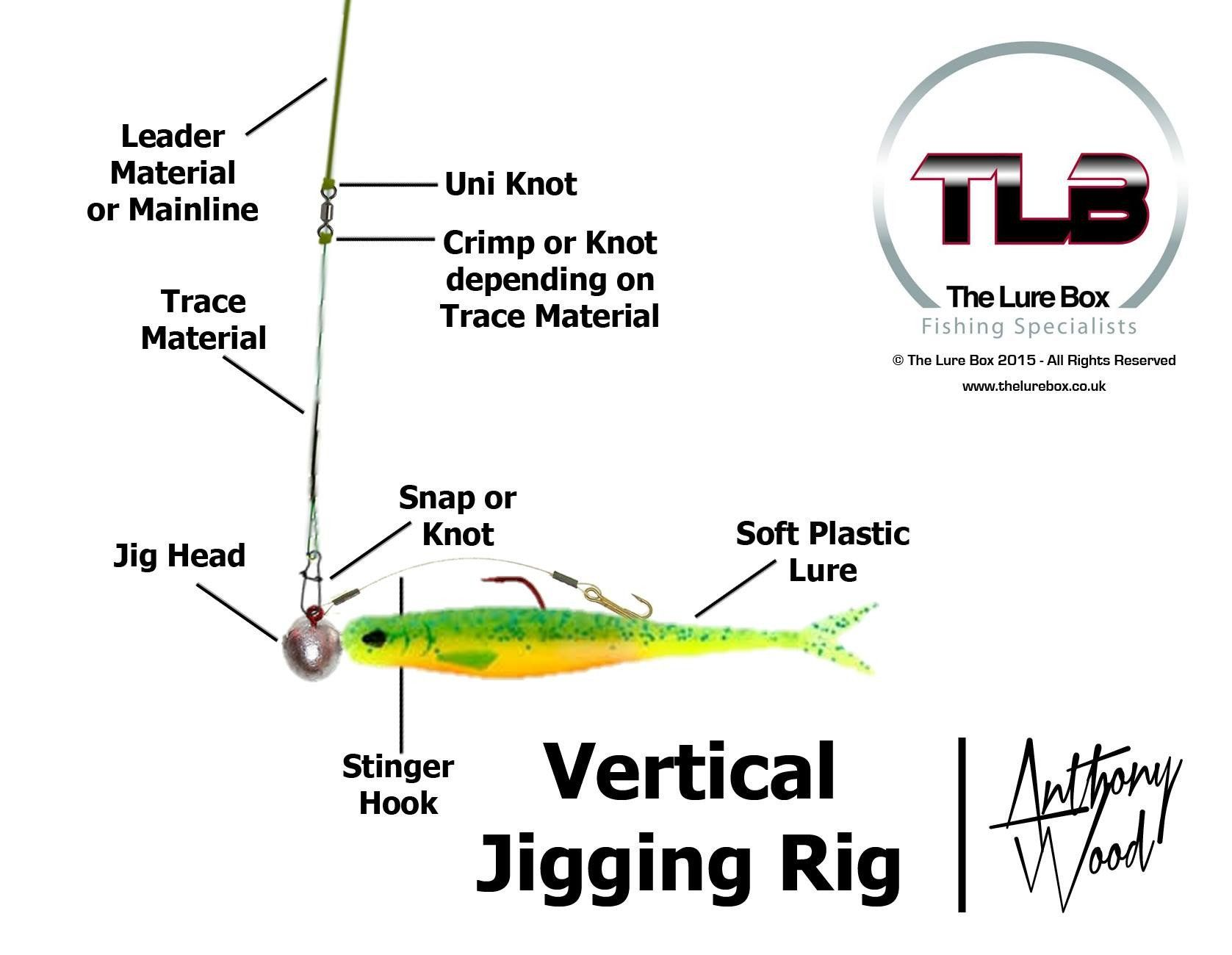 hight resolution of vertical jigging rig diagram lure fishing technique the lure box the lure box