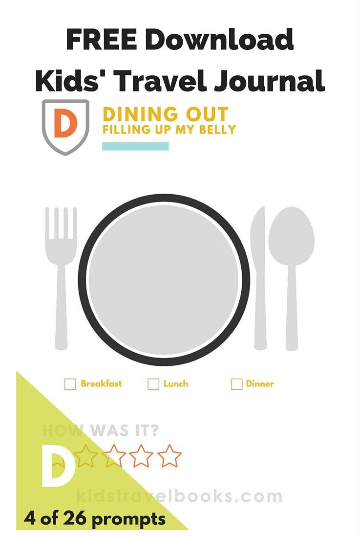 D is for Dining Out {FREE Printable | Free printables, Journal and ...