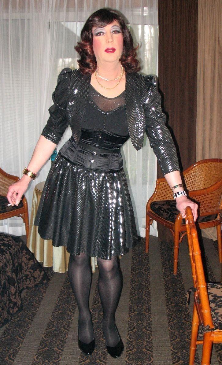 Transvestite getting dressed #11