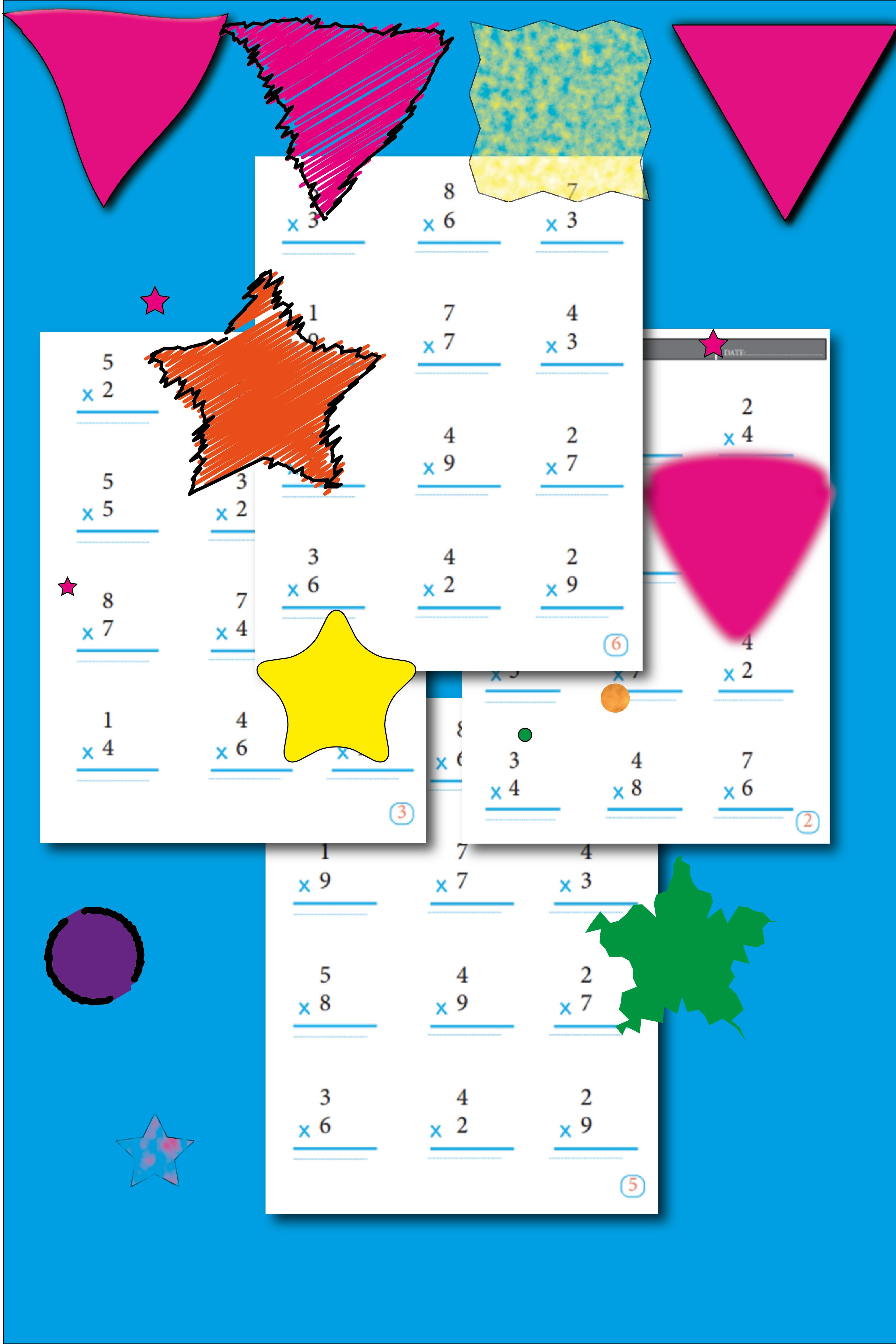 Multiplication Math Worksheets 3rd Grade Math Activity Pages Etsy Math Activities Math Worksheets Math Concepts