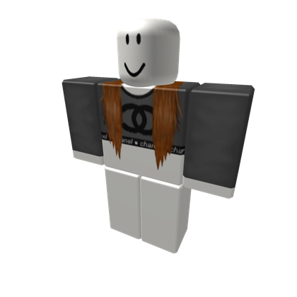 chanel cropped shirt with brown extensions - ROBLOX | Roblox