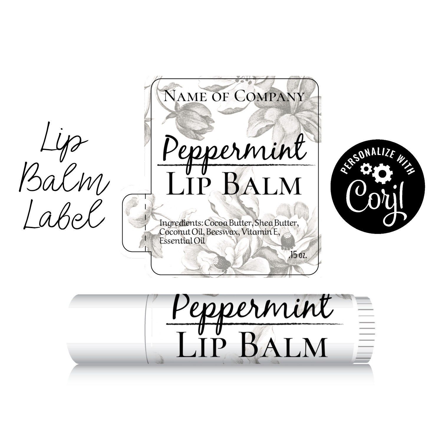 then Download /& Print Personalize Lip Balm Label Butterfly on Kraft Paper Design Customize in Corjl Edit Chapstick Label.
