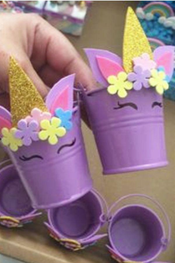 Einhorn Basteln für Kinder - Nette & Einfache DIY Einhorn Bastelideen - Kinder Blog #unicorncrafts