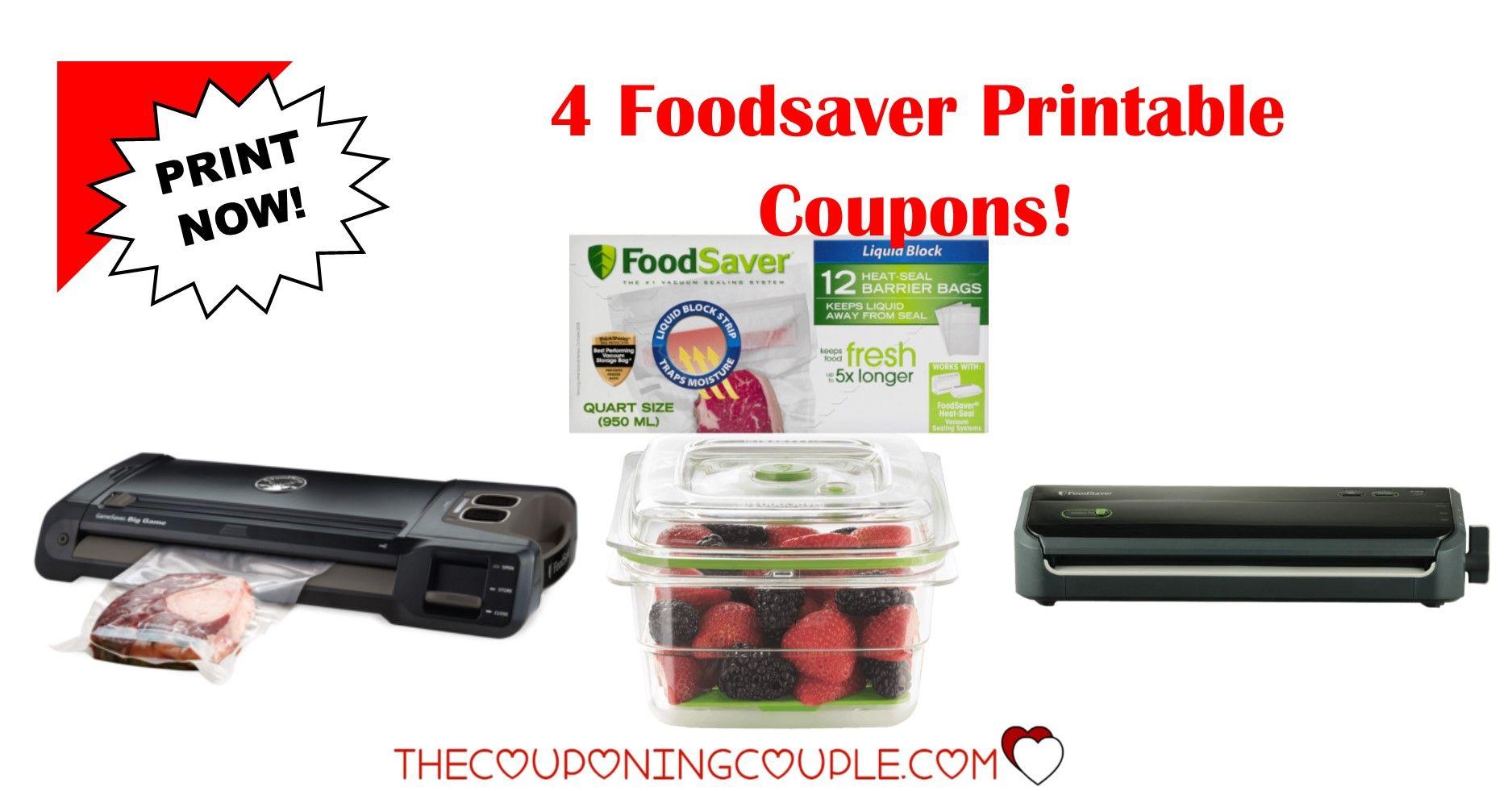 2 Foodsaver Printable Coupons 24 In Savings Print Now