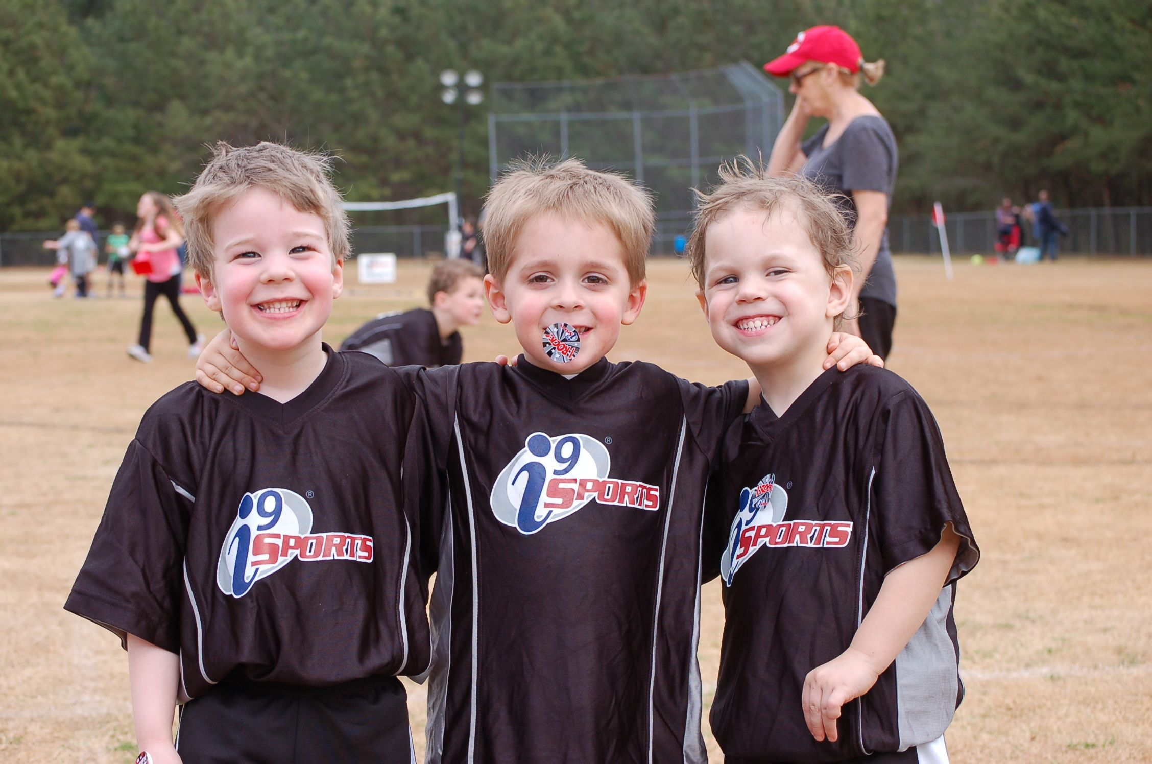 Enjoying their very first game i9sports gameday fun