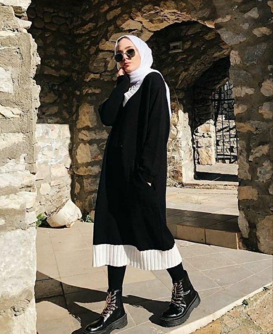 Sweater Dress Outfit Ideas With Hijab Fashion -   18 style Hijab winter ideas