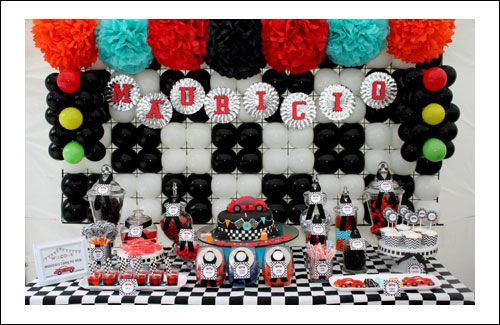 Race Car Party Theme Ideas For The Little Ones Pinterest Car