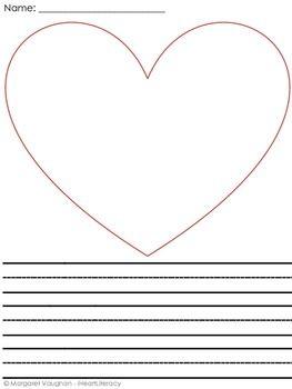 Valentine's Day Writing Paper | ELA- K/1 Freebies | Writing