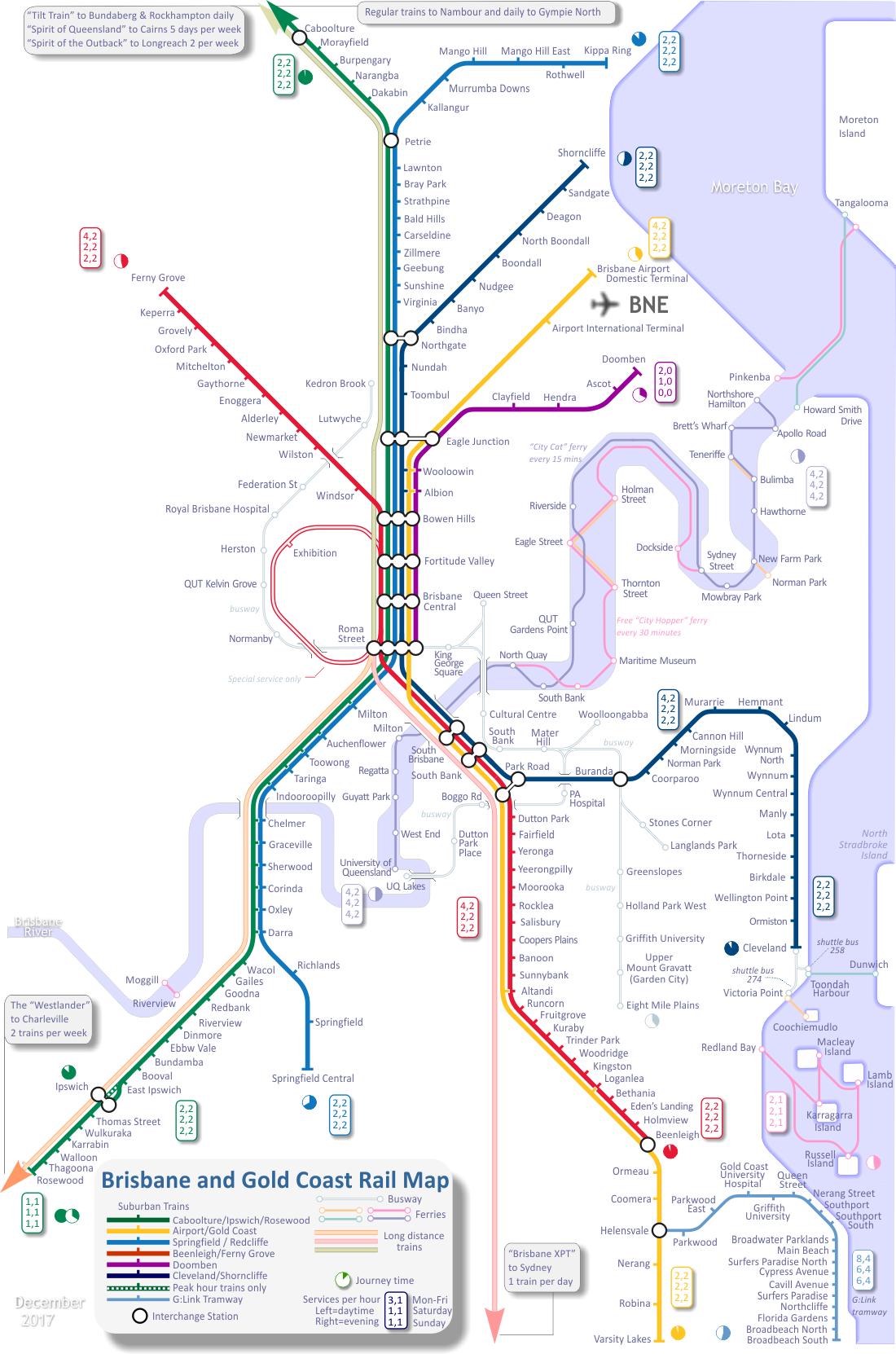Brisbane Map Australia.Train Map For Brisbane And Gold Coast Australia Sportscars