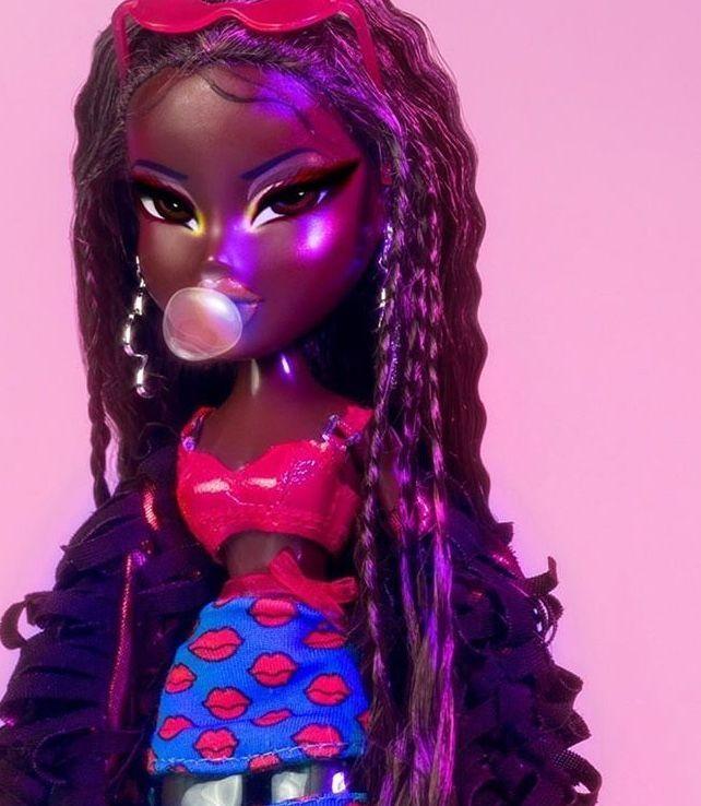 Brown Skin Bratz Bubblegum Bratzdollcostume Black Bratz Doll Black Girl Cartoon Bratz Doll Makeup