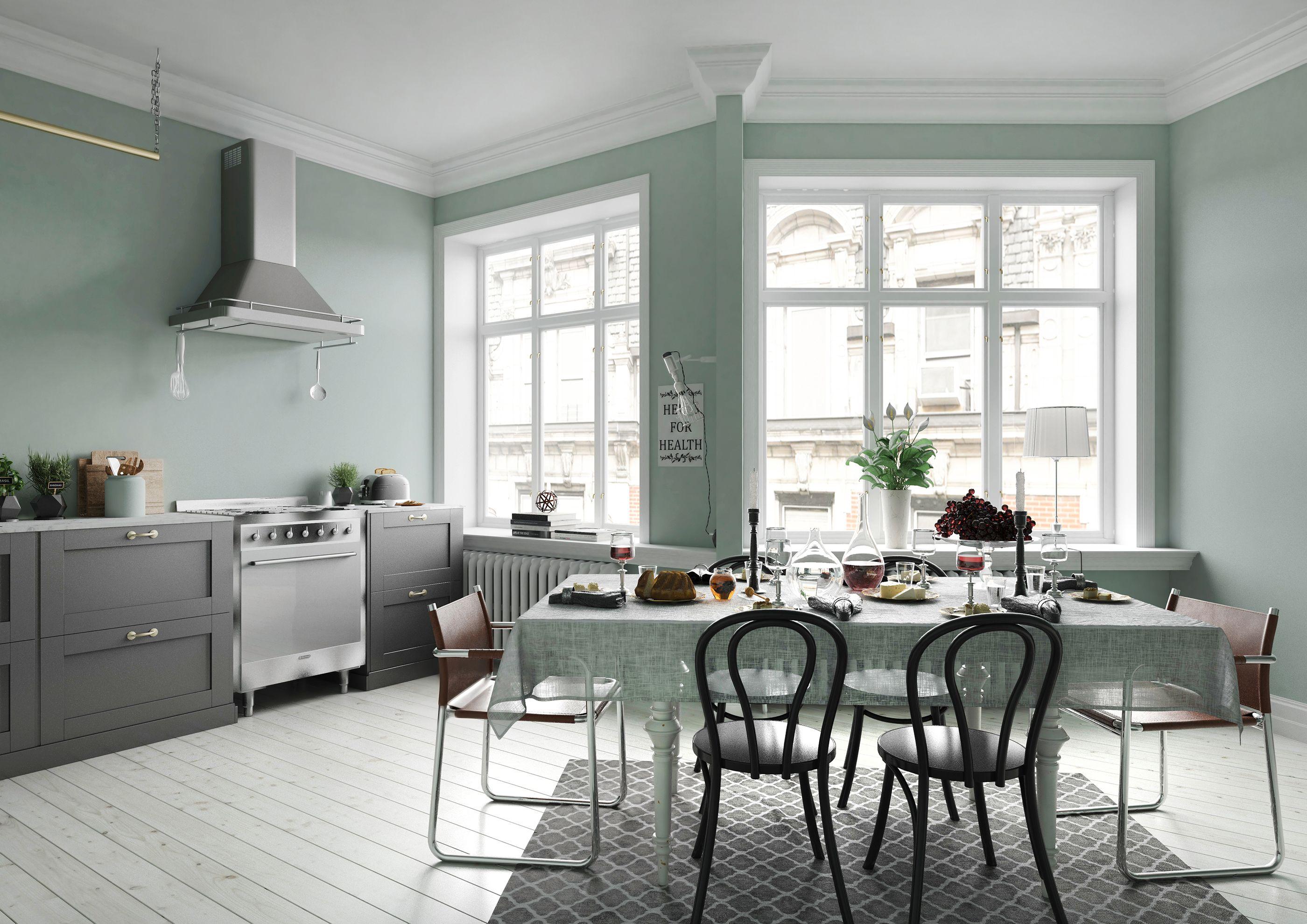 20++ Peinture cuisine vert de gris trends