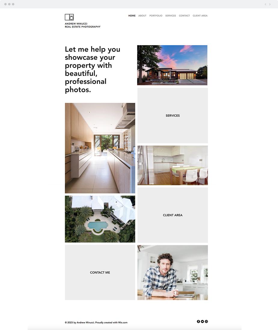 Real Estate Photographer Website Template Wix Website