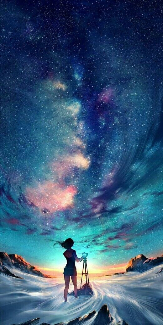 animewallpaper wallpaper sky star night ezmkurd