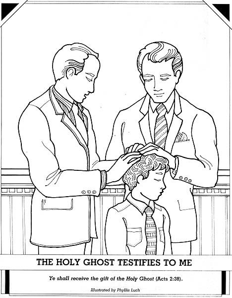 The Holy Ghost Testifies To Me Holy Ghost Lds Coloring Pages
