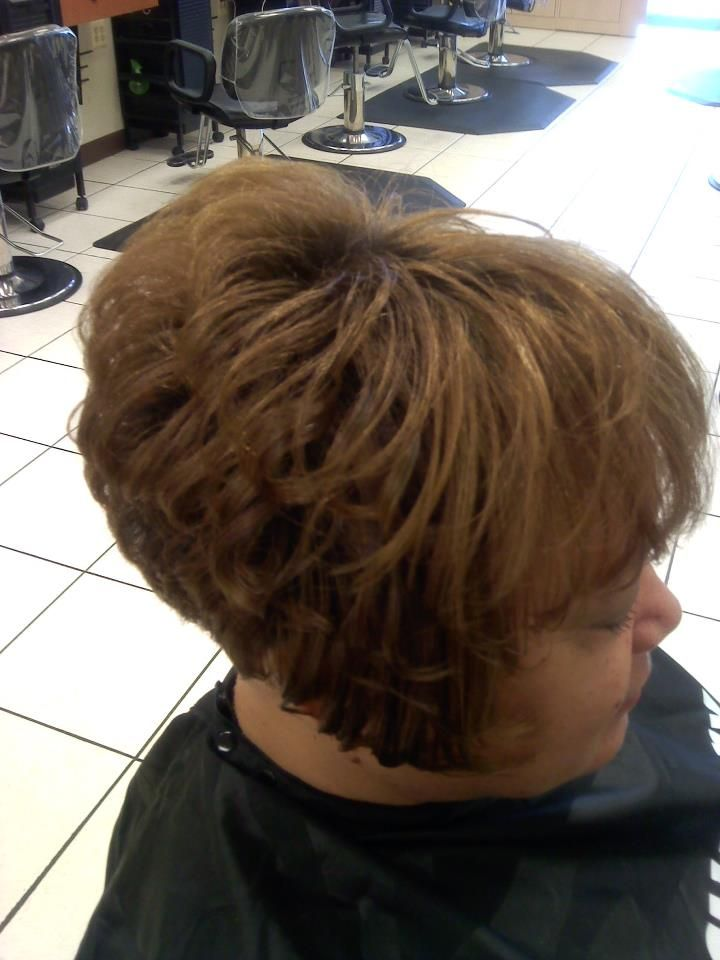 Stacked Bob Haircut Back View | inverted stacked bob, side view ...