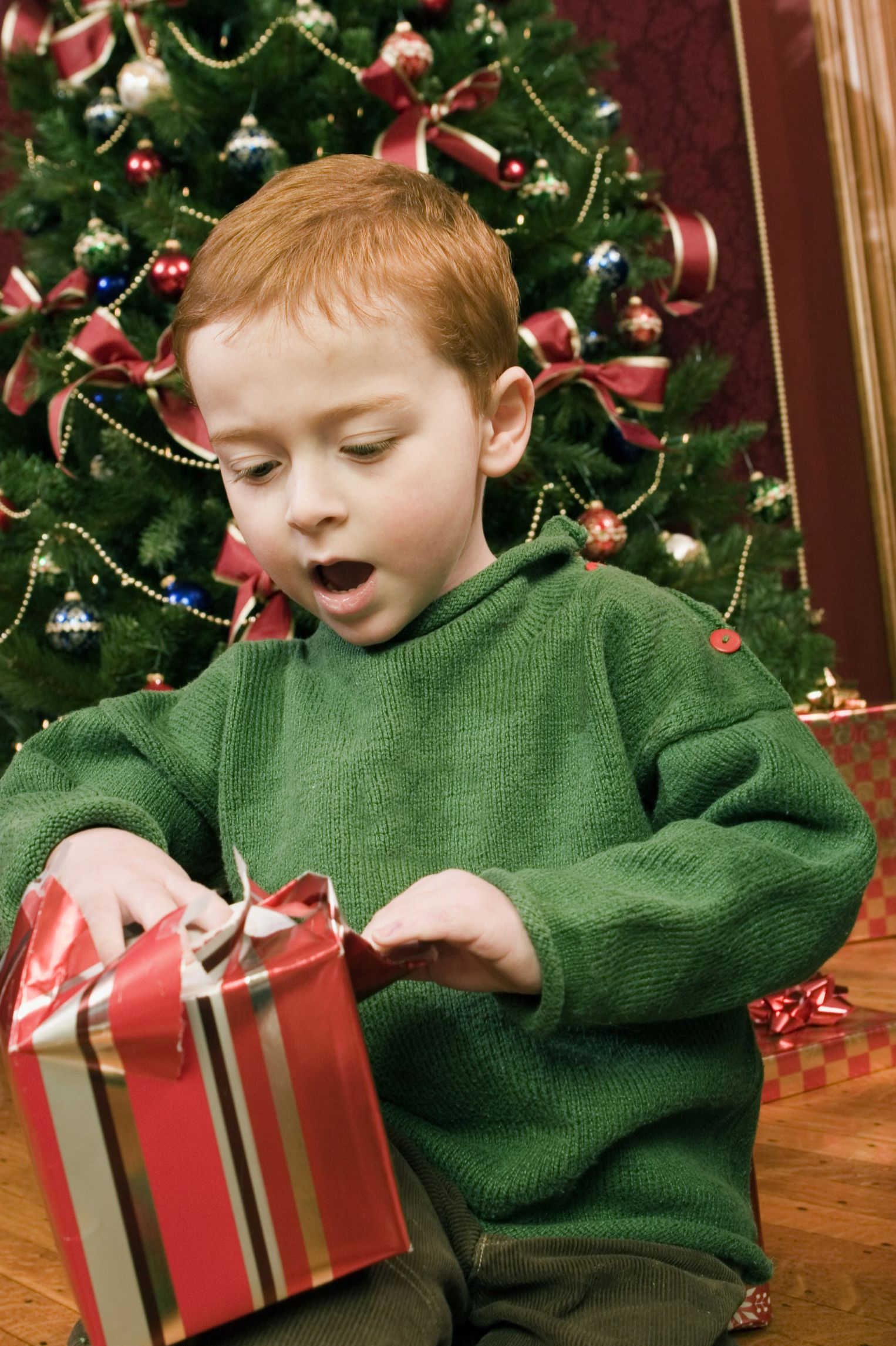 children opening christmas presents Google Search