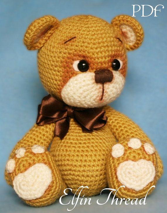 Elfin Thread Teddy Bear Amigurumi PDF Pattern by ElfinThread | sara ...