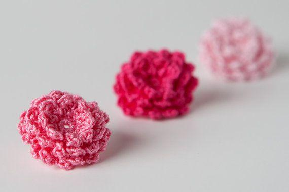 Crochet Mini Roses Flowers 3D   Crochet   Pinterest   Crochet ...