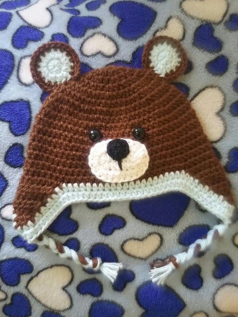3391238b27c51 Gorro osito tejido en crochet