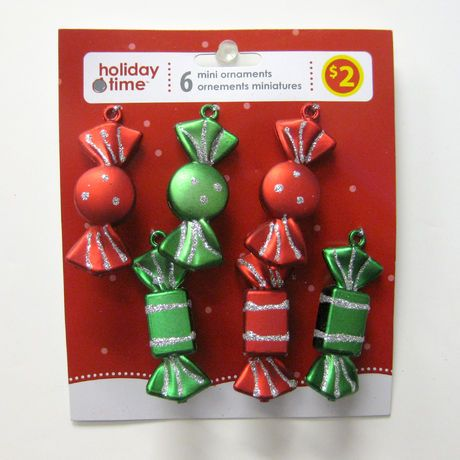 6 count candies mini ornament walmartca - Christmas Decorations Walmart