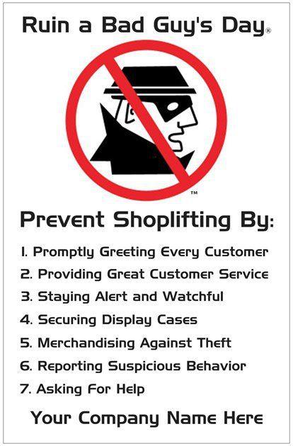 Shoplifting Awareness Poster | Loss Prevention Awareness ...