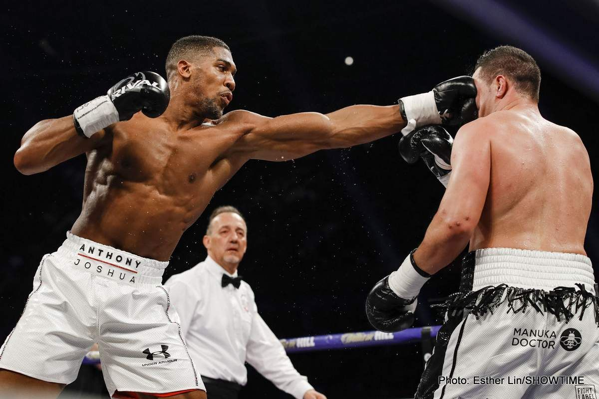 Anthony Joshua explains why he wants the Wilder fight to