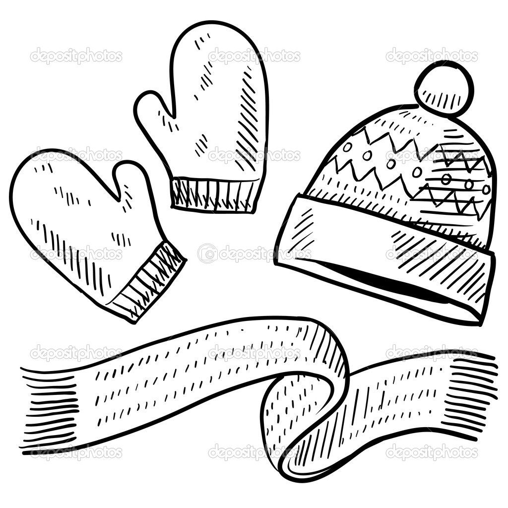 Winter Clothes Coloring Pages Education Pinterest Color sheets