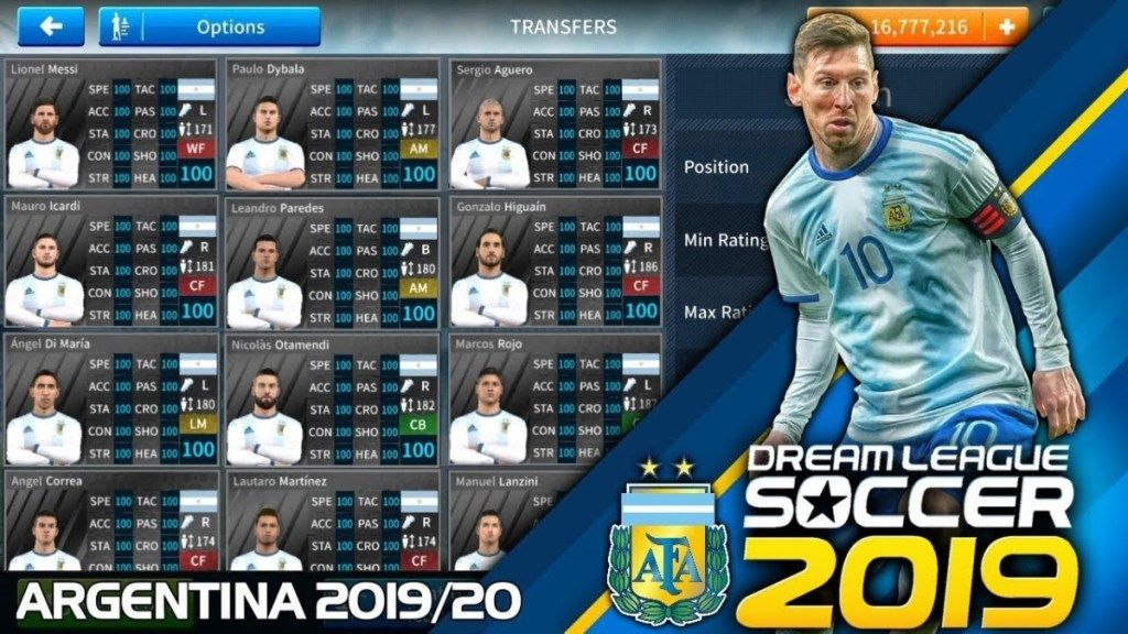 Download Data Profile.dat for Argentina team Dream League