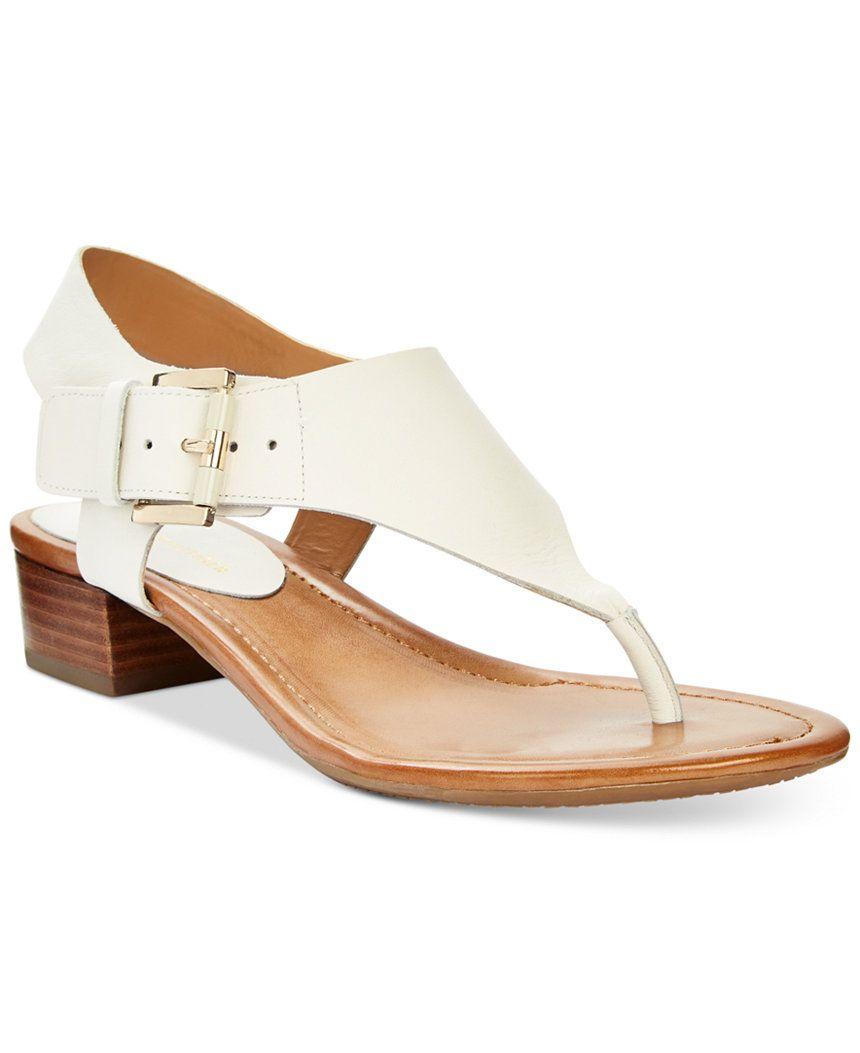 7173d1831477 Tommy Hilfiger Kitty Block Heel Sandals - Sandals - Shoes - Macy s ...