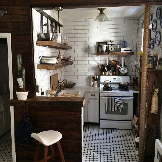 Charming Rustic Kitchen Ideas And Inspirations: #home (at Alphabet City, East Village, Manhattan, New York