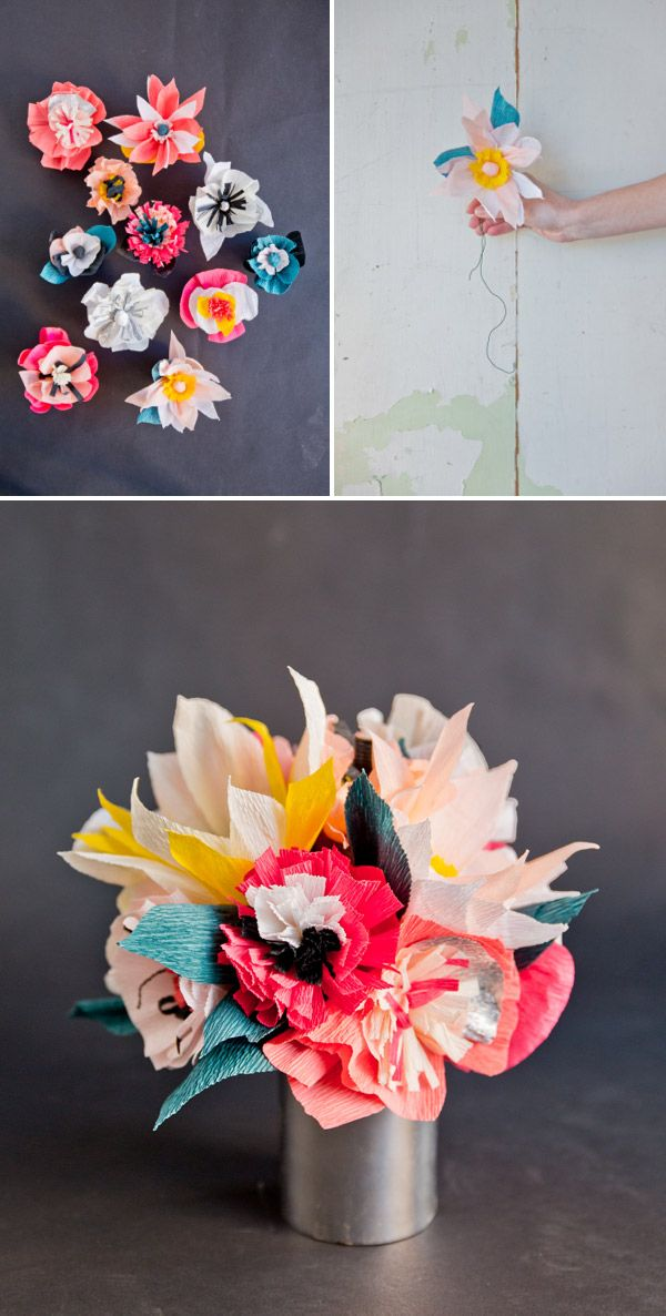 DIY: paper flower bouquet | DIY - Crafts and ideas with Paper ...