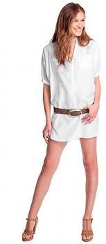 $54 Túnica Esprit - escote de pico, abotonado con botones ocultos - 70 algodón y 30 seda