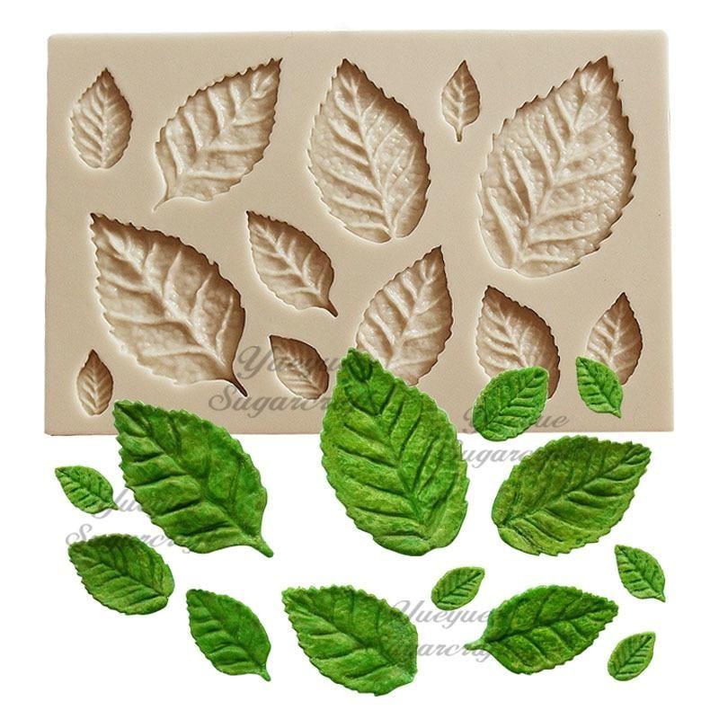 Yueyue Sugarcraft 1 piece Leaf Silicone mold Fondant Mold