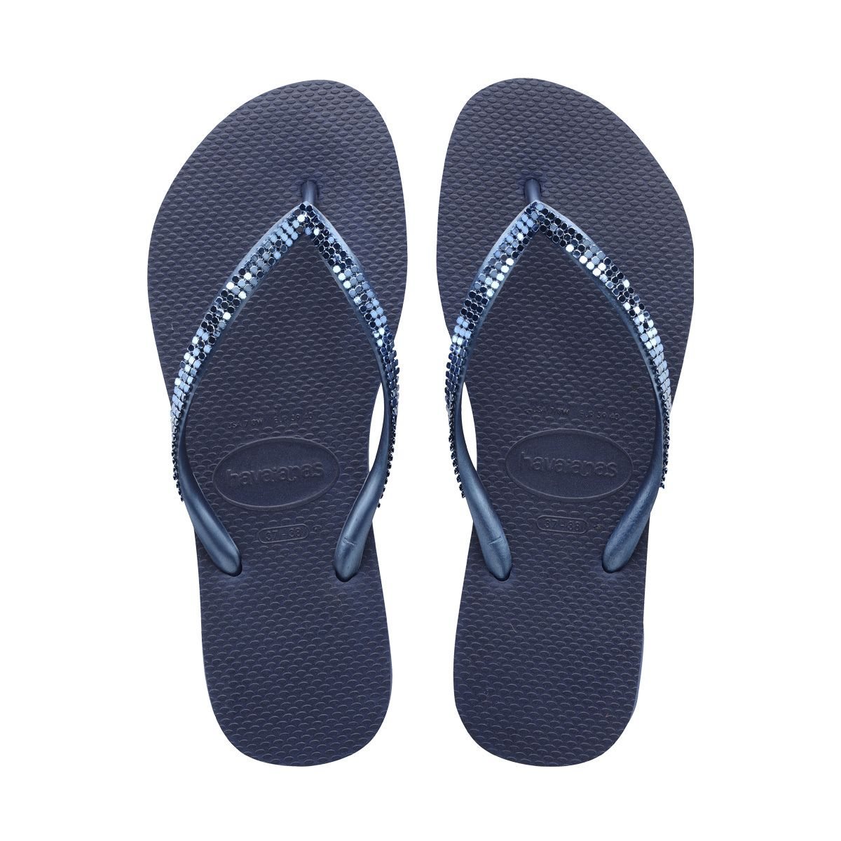 Blue Havaianas Slippers Rubber Ladies