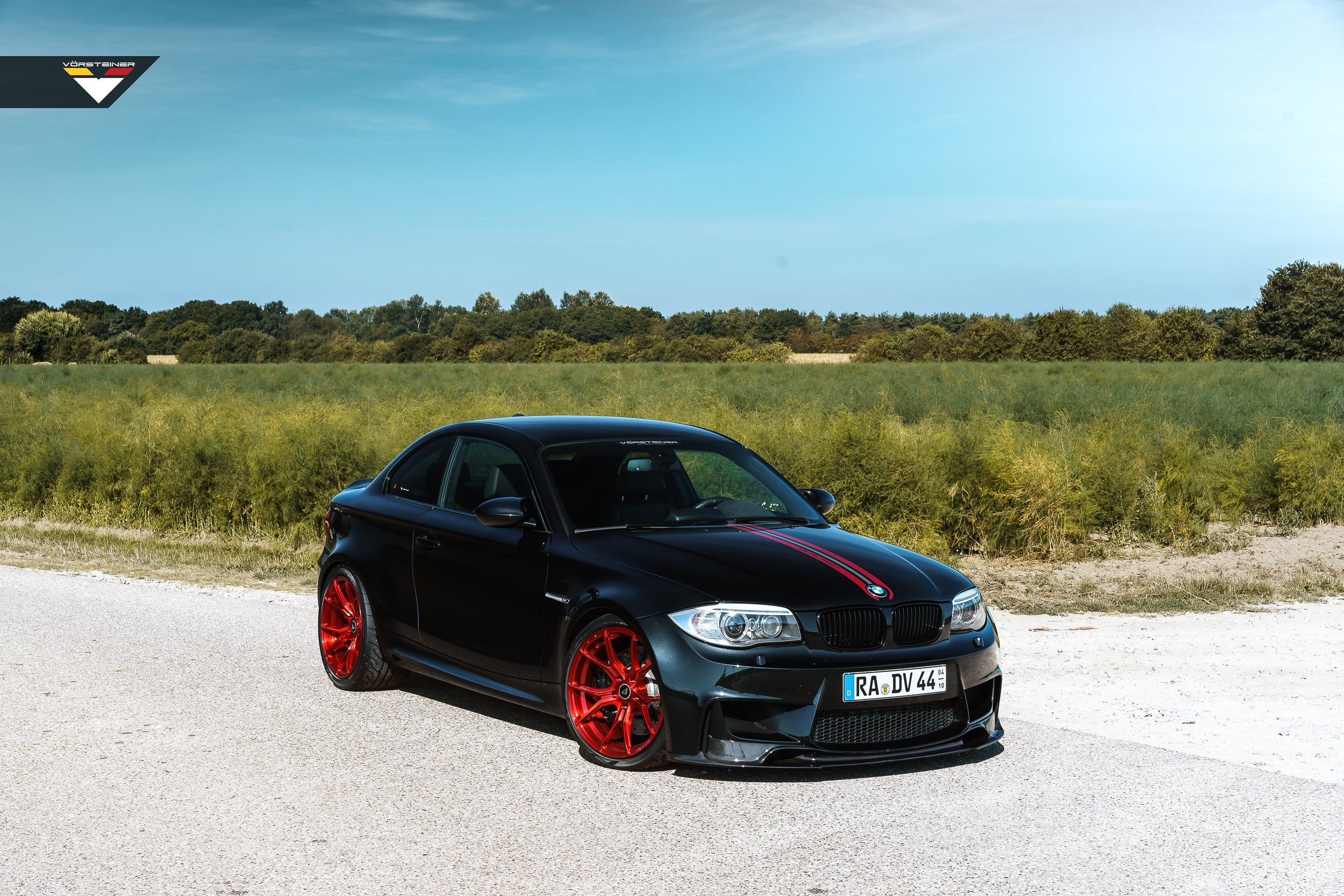 Custom Black Matte Bmw 1 Series Grabs Attention With Red Custom