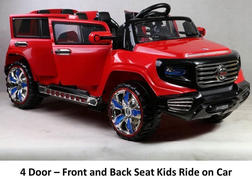 2 seat 4 door 12v power ride on parental remote control