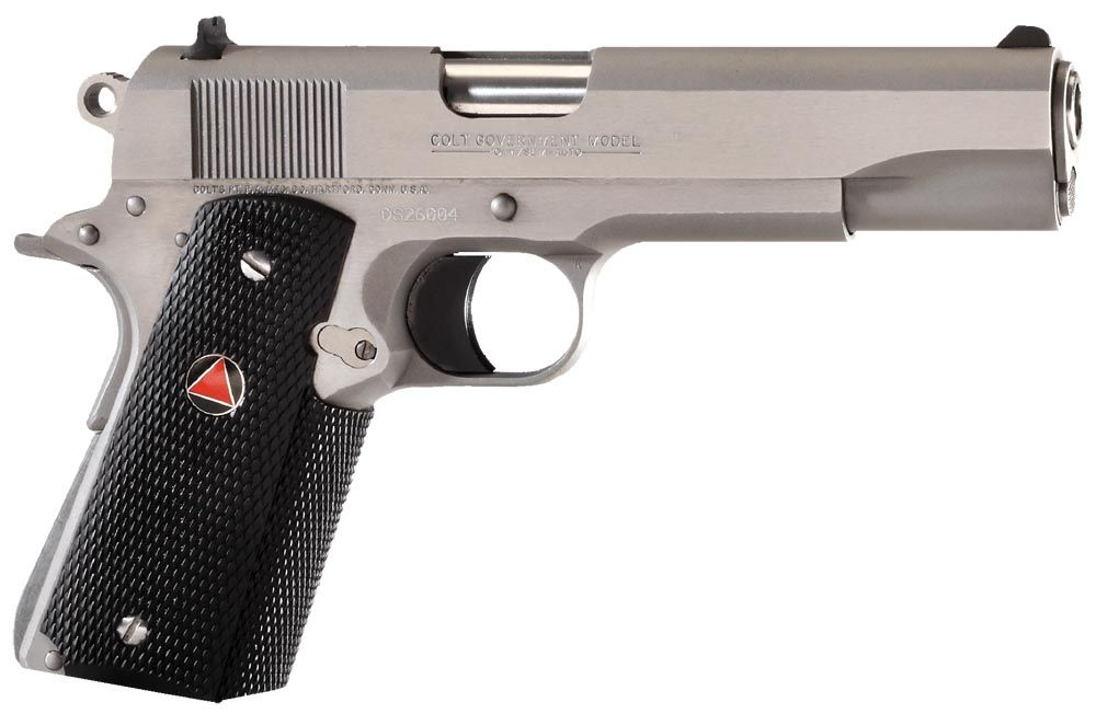Hinterland Item #26843  Manufacturer Item #O2020   Colt Delta Elite Pistol O2020, 10mm, 5 in in BBL, Single, Rubber Grips, Stainless Finish, 8 + 1 Rds