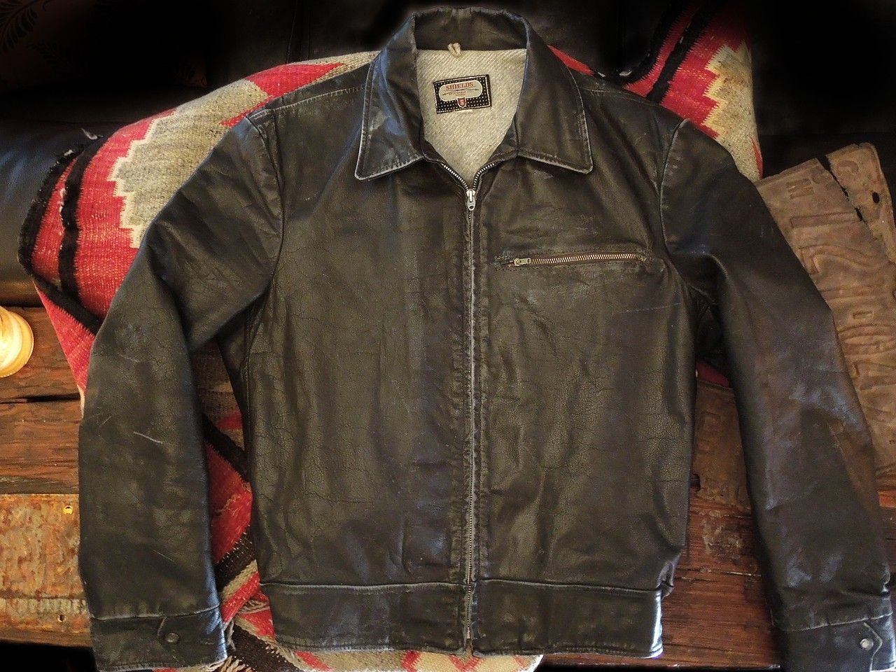 Iron Crow Rockin Vintage - Classic n Cool....Vintage 60's early 70's size 44 Shields driving jacket way cool brown leather with nice patina, lightning zippers too! , $235.00 (http://www.ironcrowvintage.com/products/classic-n-cool-vintage-60s-early-70s-size-44-shields-driving-jacket-way-cool-brown-leather-with-nice-patina-lightning-zippers-too.html)