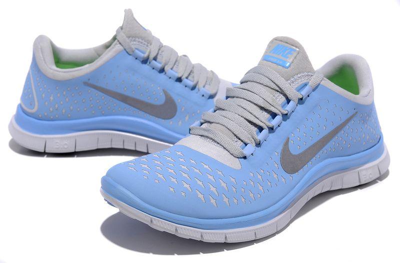 Populaire Nike Free 3.0 V4 En Ligne Femme Chaussures De Running Bleu Gris,  EUR €