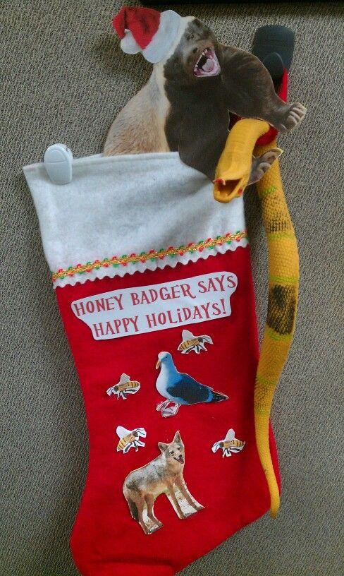 Honey Badger Themed Christmas Stocking For Office Stocking